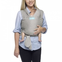Moby Wrap Classic Stretchy Baby Carrier from Newborn  - Grey