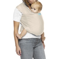 Moby Wrap Evolution Stretchy Baby Carrier from Newborn  - Almond