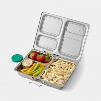 Planetbox Stainless Steel Lunchbox Launch - 3 Compartment Hearty Lunch Size