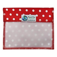 Planetwise Reusable Window Sandwich Bag Red Dots