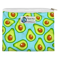 Planetwise Reusable Zipper Sandwich / Snack Bag Aqua Avocado