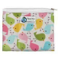 Planetwise Reusable Zipper Sandwich / Snack Bag Chickadees