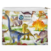 Planetwise Reusable Zipper Sandwich / Snack Bag Dino Mite
