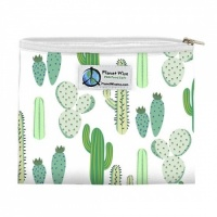 Planetwise Reusable Zipper Sandwich / Snack Bag Prickly Cactus