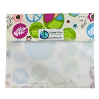 Planetwise Reusable Window Sandwich Bag Peace on Earth