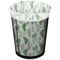 Planetwise Washable Waterproof Reusable Bin Bag - Prickly Cactus