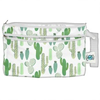 Planetwise Reusable Wet/Dry Clutch Bag Prickly Cactus