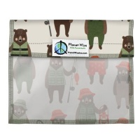 Planetwise Reusable Window Sandwich Bag Brawny Bears