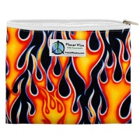 Planetwise Reusable Zipper Sandwich / Snack Bag Flame