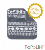 Popolini Double Layer Organic Cotton Baby Blanket - Norway Grey