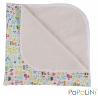 Popolini Organic Cotton Nappy Changing Mat - Garden Tunes