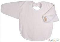 Iobio Organic Cotton Long Sleeved Bib Cream