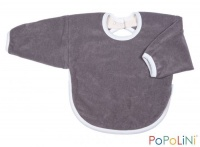 Iobio Organic Cotton Long Sleeved Bib Grey