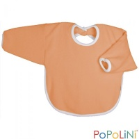 Iobio Organic Cotton Long Sleeved Bib Orange