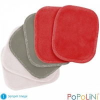 Popolini Organic Cotton Washable Reusable Make Up Remover Pads (6 pack)