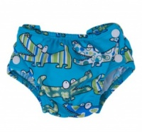 Popolini Reusable Swim Nappy Croco Blue Design