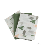Popolini Organic Cotton Muslin Cloths 3 pack Camping