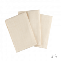 Popolini Organic Cotton Muslin Cloths 3 pack Cream