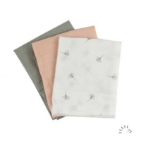 Popolini Organic Cotton Muslin Cloths 3 pack Soft Ginko
