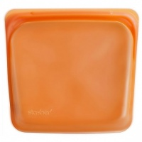 Stasher Reusable Sandwich Bag - Cook Freeze Store - Zero Plastic - Citrus
