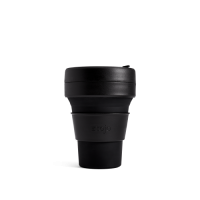 Stojo Reusable Coffee Cup - Collapses Down to Fit in Your Pocket or Bag - Ink - Brooklyn Collection