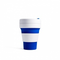 Stojo Reusable Coffee Cup - Collapses Down to Fit in Your Pocket or Bag - Blue
