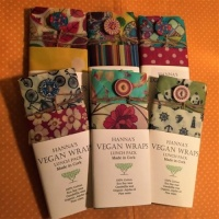 Hanna's Bee Wraps - Vegan Lunch Pack - Sandwich with Button & Midi Wrap
