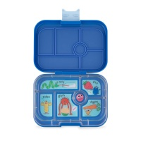 Yumbox Classic 6 Compartment Lunchbox True Blue (Funny Monsters Tray)