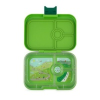 Yumbox 4 Compartment Panino Lunchbox Go Green (Bike Race Tray)