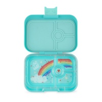 Yumbox 4 Compartment Panino Lunchbox Misty Aqua (Rainbow Tray)