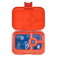 Yumbox 4 Compartment Panino Lunchbox Saffron Orange