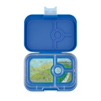 Yumbox 4 Compartment Panino Lunchbox True Blue (Bike Race Tray)