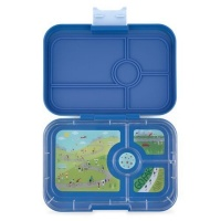 Yumbox Tapas Leak Free Lunchbox 4 Compartments True Blue (Bike Race Tray)