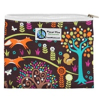 Planetwise Reusable Zipper Sandwich / Snack Bag Jewel Woods
