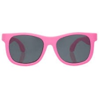 Babiators Navigator Sunglasses - Super Flexible Rubber Frames, 100% UV Protection - Think Pink