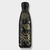 Chilly's Reusable Insulated Water Bottle 500ml Mystic Black