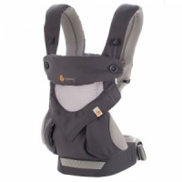 Ergobaby 360 Cool Air Four Position Baby Carrier with Infant Insert Value Pack Carbon Grey