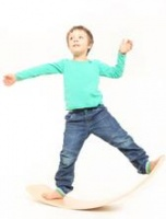 Das.Brett Balance Board from Organically Grown Beech Wood - Fun and Fitness for Kids, Teens and Grown Ups!