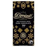Divine 70% Dark Chocolate Bar - Ethical, Fair Trade and Palm Oil Free