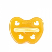 Hevea Natural Baby Soother - Symmetrical Teat - Non Toxic - Plastic Free - Duck