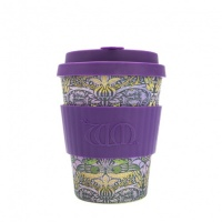 Ecoffee Reusable Coffee Cup - No Excuse For Single-Use - William Morris Collection Peacock 12oz/340ml