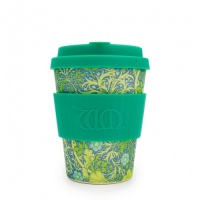 Ecoffee Reusable Coffee Cup - No Excuse For Single-Use - William Morris Collection Seaweed Marine 12oz/340ml
