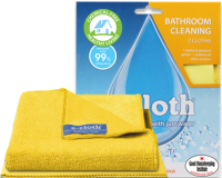E Cloth Bathroom Cleaning Cloths x 2 - Perfect Cleaning With Just Water
