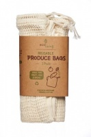 ecoLiving Organic Cotton Produce Bags and Bread Bag 3 Pack