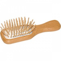 EcoLiving Mini Wooden Brush - Handbag Size Plastic Free FSC Beech Wood