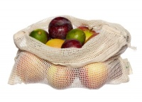 ecoLiving Organic Cotton Produce Bag - Plastic Free Fruit and Veg Shopping