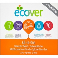 Ecover All In One Dishwasher Tablets 68's - Perfect for your Families Dishes