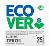 Ecover Zero All In One Dishwasher Tablets - Clean, Fragrance Free Dishes
