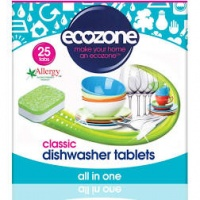 Ecozone All in One Dishwasher Tablets - Cleans Naturally, No Plastic 25s