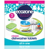 Ecozone All in One Dishwasher Tablets - Cleans Naturally, No Plastic 72s
